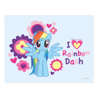 I Heart Rainbow Dash Postcard