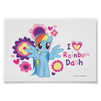 I Heart Rainbow Dash Poster