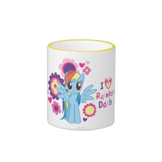 I Heart Rainbow Dash Ringer Mug