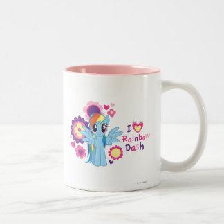 I Heart Rainbow Dash Two-Tone Coffee Mug