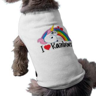 I Heart Rainbows Pet Tshirt