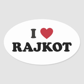 I Heart Rajkot India Oval Sticker