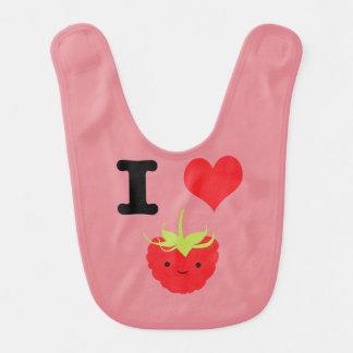 I Heart Rasberries Bib