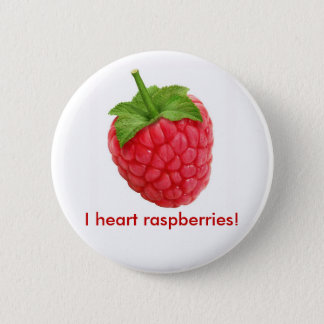 I heart raspberries! button