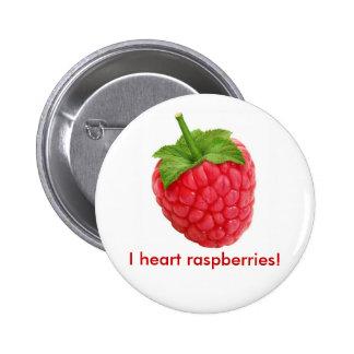 I heart raspberries! buttons