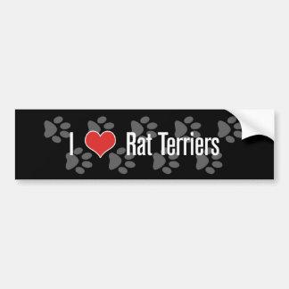 I (heart) Rat Terriers Car Bumper Sticker