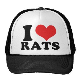I Heart Rats Basic Trucker Hat