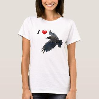 I Heart Ravens Flying Raven Shirt