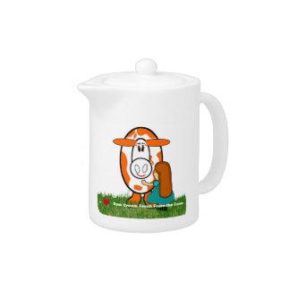 I Heart Raw Cream Fresh From The Farm Teapot