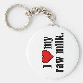 I Heart Raw Milk Basic Round Button Keychain