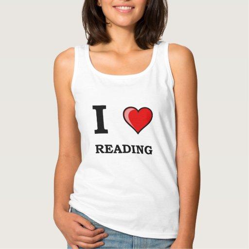 I Heart Reading Basic Tank Top Tank Tops, Tanktops Shirts