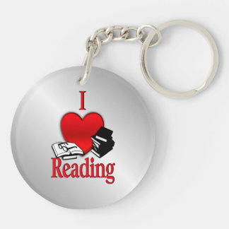 I Heart Reading Keychain