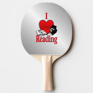 I Heart Reading Ping-Pong Paddle