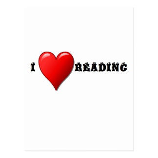 I heart reading postcard