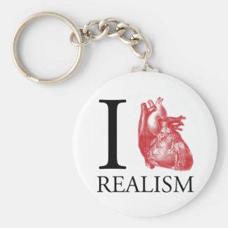 I Heart Realism Basic Round Button Keychain