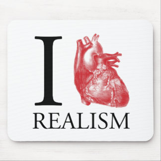 I Heart Realism Mouse Pad