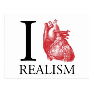 I Heart Realism Postcard