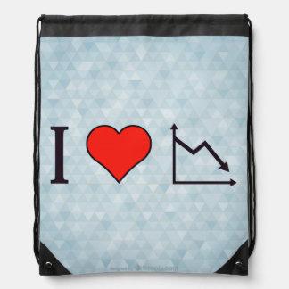I Heart Recession Drawstring Bag