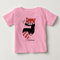 I Heart Red Pandas Baby T-Shirt