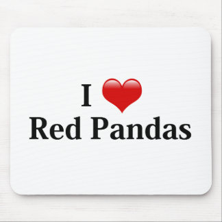 I Heart Red Pandas Mouse Pad