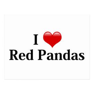 I Heart Red Pandas Postcard
