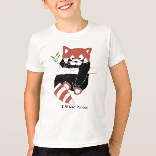I Heart Red Pandas T-Shirt