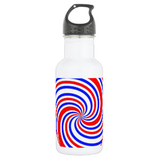I Heart Red, White and Blue Stainless Steel Water Bottle