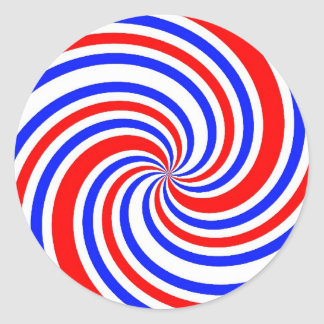 I Heart Red, White and Blue Round Stickers