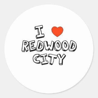 I Heart Redwood City Classic Round Sticker