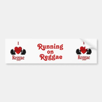I Heart Reggae Bumper Sticker