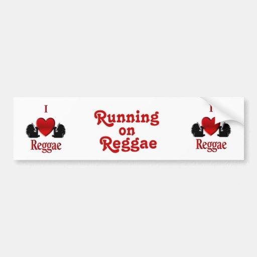 I Heart Reggae Car Bumper Sticker