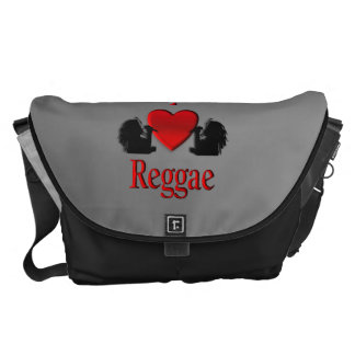 I Heart Reggae Courier Bag