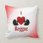 I Heart Reggae Mojo Pillow