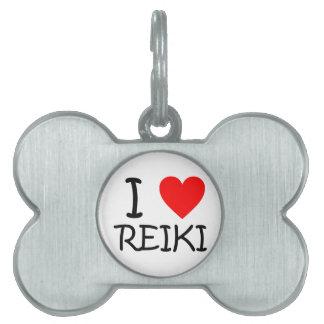 """I heart Reiki"" bone pet tag"