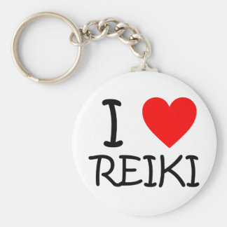 """I heart Reiki"" button keychain"