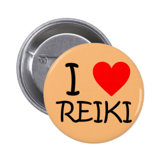 """I heart Reiki"" round button"