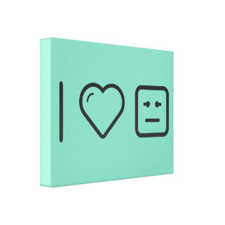 I Heart Relief Emoticons Canvas Print