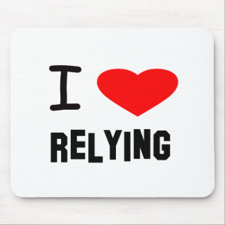 I Heart relying Mouse Pad
