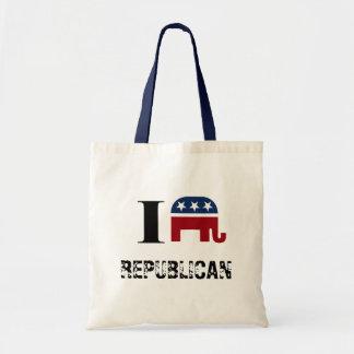 I heart REPUBLICAN Canvas Bags