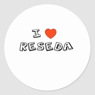 I Heart Reseda Classic Round Sticker