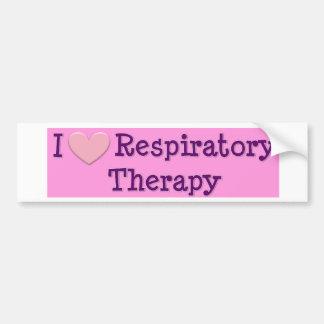 I heart Respiratory Therapy Car Bumper Sticker