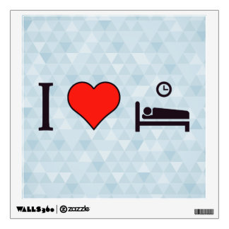 I Heart Resting After Exercise Wall Sticker