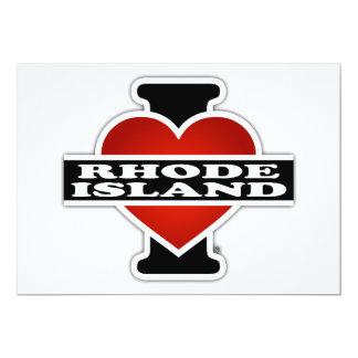 I Heart Rhode Island 5x7 Paper Invitation Card