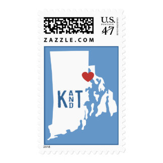 I Heart Rhode Island - Customizable City Stamp