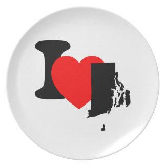 I Heart Rhode Island Dinner Plate