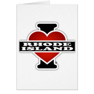 I Heart Rhode Island Greeting Card
