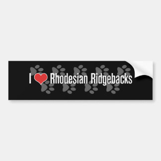 I (heart) Rhodesian Ridgebacks Bumper Sticker