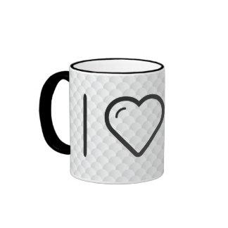 I Heart Rib Bones Ringer Coffee Mug