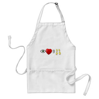 I Heart Rich Chicks Adult Apron