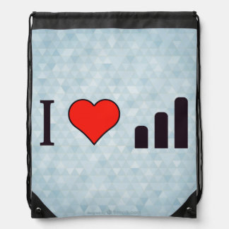 I Heart Rise In Literacy Rate Drawstring Bag